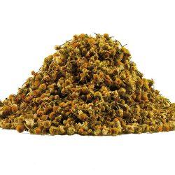 Kamillebloemen, kamille thee op basis van zuivere bloemen