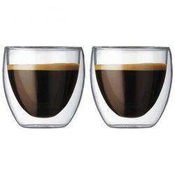 Bodum Pavina dubbelwandige glazen 8cl set van 2
