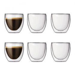 Bodum Pavina dubbelwandige glazen 8cl set van 6