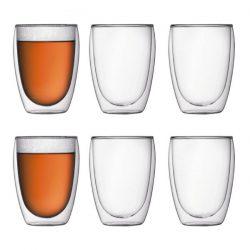 Bodum Pavina dubbelwandige glazen set van 6