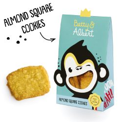 ALMOND SQUARE COOKIES 100gr Betty & Albert